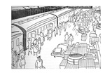 An Illusttration of a 1930S Railway Station, 1937 Giclee Print
