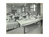 An Upholstery Class for Female Students at Borough Polytechnic, Southwark, London, 1911 Photographic Print