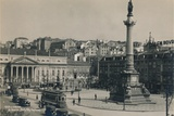 Rossio Square, Lisbon, Portugal, 1936 Photographic Print