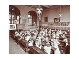 Classroom Scene, Hugh Myddelton School, Finsbury, London, 1906 Photographic Print