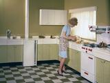Kitchen Scene, Warwick, Warwickshire, 1966 Photographic Print by Michael Walters