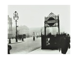 Trafalgar Square with Underground Entrance and Admiralty Arch Behind, London, 1913 Photographic Print