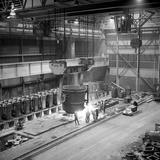 Teeming (Pouring) Molten Iron, Park Gate Iron and Steel Co, Rotherham, South Yorkshire, 1964 Photographic Print by Michael Walters