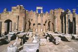 Severan Basilica, Leptis Magna, Libya, 216 Ad Fotografisk tryk af Vivienne Sharp