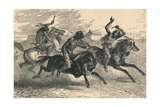 An Indian Horse Race, C19th Century Giclee Print