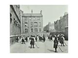 Hockey Game, Myrdle Street Girls School, Stepney, London, 1908 Photographic Print