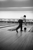 Ten Pin Bowling, Sheffield, South Yorkshire, 1964 Photographic Print by Michael Walters