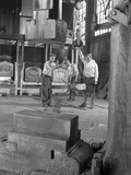 Hot Iron Ready for Forging, J Beardshaw and Sons, Sheffield, South Yorkshire, 1963 Photographic Print by Michael Walters