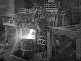 Pouring Molten Iron, Park Gate Steelworks, Rotherham, South Yorkshire, 1964 Photographic Print by Michael Walters