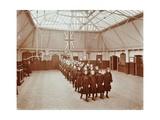 Girls Returning from Play, Thomas Street Girls School, Limehouse, Stepney, London, 1908 Photographic Print