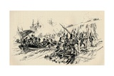 Landing of Sir Ralph Abercromby and British Forces at Alexandria, 1801, (1884) Giclee Print