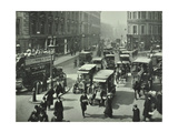 Pedestrians and Traffic, Victoria Street, London, April 1912 Photographic Print