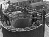 Demolition Work Manvers Main Colliery, Wath Upon Dearne, South Yorkshire, September 1956 Photographic Print by Michael Walters