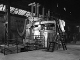 Tilghman Electric Arc Furnace, Keyser Ellison Steelworks, Sheffield, South Yorkshire, 1964 Photographic Print by Michael Walters