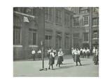 Girls Playing Netball in the Playground, William Street Girls School, London, 1908 Photographic Print