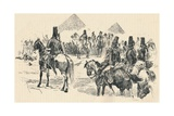 Napoleon Buonaparte at the Battle of the Pyramids, 1798, (1884) Giclee Print by Richard Caton II Woodville