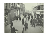 People Rushing to Get on a Trolley Bus at 7.05 Am, Tooting Broadway, London, April 1912 Photographic Print