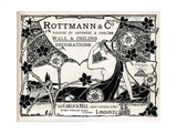 Rottmann and Co., Makers of Japanese and English Wall and Ceiling Decorations, 1897 Giclee Print