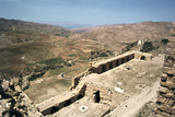 Looking Towards the Dead Sea from the Castle of Kerak, Jordan Photographic Print by Vivienne Sharp