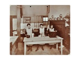 Cookery Lesson, Morden Terrace School, Greenwich, London, 1908 Photographic Print