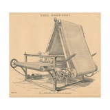 Wool Machinery: Ferrabee and Co.S Wool Lap Machine, C1880 Giclee Print