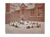 Playground Scene, Hugh Myddelton School, Finsbury, London, 1906 Photographic Print