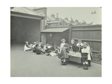 Children in the Playground, Southfields Infants School, Wandsworth, London, 1906 Photographic Print