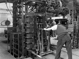 Loading a Palletising Machine with Bricks, Whitwick Brickworks, Coalville, Leicestershire, 1963 Photographic Print by Michael Walters