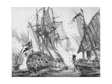 Captain Keigwin in the Revenge, Beating Off Sevagees Fleet, 1884 Giclee Print