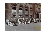 Nature Class in the Playground, Albion Street Girls School, Rotherhithe, London, 1908 Photographic Print