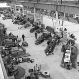 Lathe Workshop Area, Park Gate Iron and Steel Co, Rotherham, South Yorkshire, 1964 Photographic Print by Michael Walters