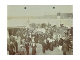 Passengers Boarding the London Steamboat Service, River Thames, London, 1905 Photographic Print