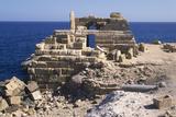 Lighthouse, Leptis Magna, Libya Fotografisk tryk af Vivienne Sharp