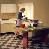 Kitchen Scene, Warwick, Warwickshire, 1966 Photographic Print by Michael Walters