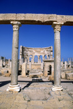 The Market, Leptis Magna, Libya, C3rd Century Ad. Pillars in the Ancient Roman City Photographic Print by Vivienne Sharp