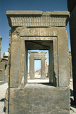 Doorway of the Palace of Darius, Persepolis, Iran Photographic Print by Vivienne Sharp