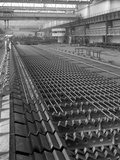 The Bar Mill Cooling Beds at the Brightside Foundry, Sheffield, South Yorkshire, 1964 Photographic Print by Michael Walters