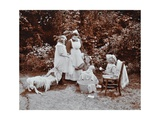 Girls Learning Infant Care, Birley House Open Air School, Forest Hill, London, 1908 Photographic Print