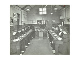 Language Lesson on Daffodils at Oak Lodge School for Deaf Girls, London, 1908 Photographic Print