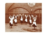Girls Morris Dancing in Playground, Thomas Street Girls School, Limehouse, Stepney, London, 1908 Photographic Print