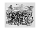 Landed on a Small Island Inhabited by Myriads of Penguins, C1918 Giclee Print
