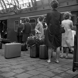 Passengers on a Platform at Centraal Station, Amsterdam, Netherlands, 1963 Photographic Print by Michael Walters