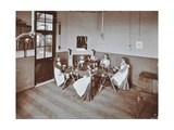Girls Knitting Socks by Machine at the Elm Lodge School for Blind Girls, London, 1908 Photographic Print