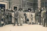 Tourists on an Excursion from a Cruise, Possibly in Sidi Bou Said, Tunisia, 1936 Stampa fotografica