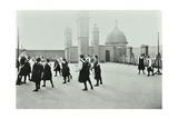 Playing Netball, Myrdle Street Girls School, Stepney, London, 1908 Photographic Print