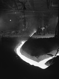 Molten Steel Being Channelled at the Stanton Steel Works, Ilkeston, Derbyshire, 1962 Photographic Print by Michael Walters