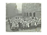 Children Displaying their Drawings, Flint Street School, Southwark, London, 1908 Photographic Print