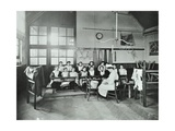 Housewifery Lesson, Childeric Road School, Deptford, London, 1908 Photographic Print