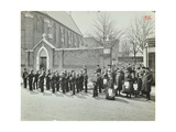 Boys Emigrating to Canada Setting Off from Saint Nicholas Industrial School, Essex, 1908 Photographic Print