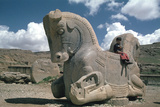 Protome of a Double Horse, the Apadana, Persepolis, Iran Photographic Print by Vivienne Sharp